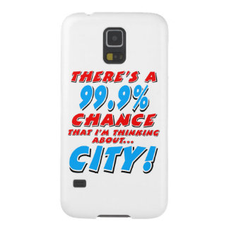 99.9% CITY (blk) Galaxy S5 Cases
