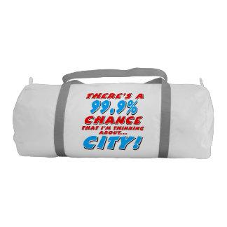 99.9% CITY (blk) Gym Bag
