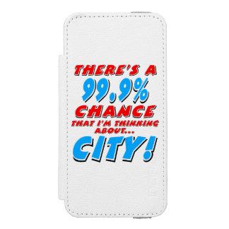 99.9% CITY (blk) Incipio Watson™ iPhone 5 Wallet Case