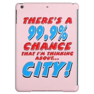 99.9% CITY (blk) iPad Air Case