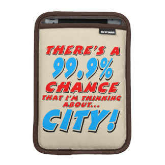 99.9% CITY (blk) iPad Mini Sleeve