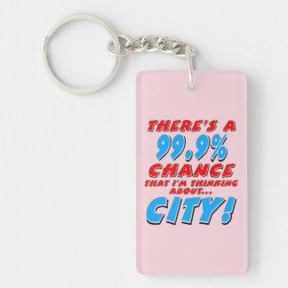 99.9% CITY (blk) Keychain