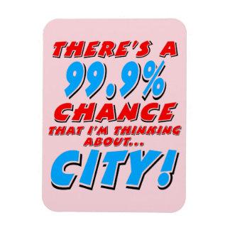 99.9% CITY (blk) Magnet