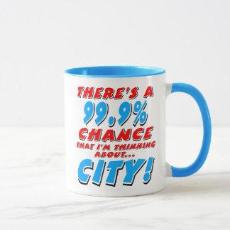 99.9% CITY (blk) Mug