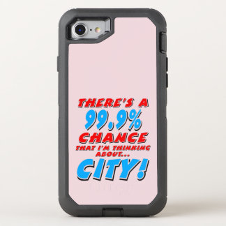 99.9% CITY (blk) OtterBox Defender iPhone 8/7 Case