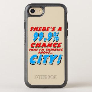 99.9% CITY (blk) OtterBox Symmetry iPhone 8/7 Case