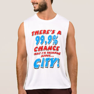 99.9% CITY (blk) Tank Top