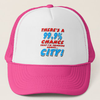 99.9% CITY (blk) Trucker Hat