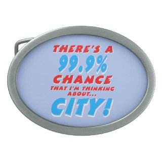 99.9% CITY (wht) Belt Buckle
