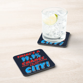 99.9% CITY (wht) Coaster