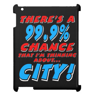 99.9% CITY (wht) Cover For The iPad 2 3 4