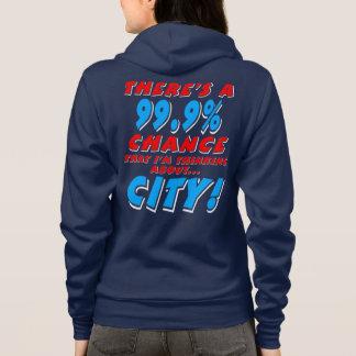 99.9% CITY (wht) Hoodie