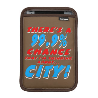 99.9% CITY (wht) iPad Mini Sleeve