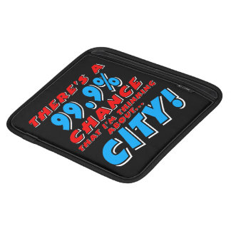 99.9% CITY (wht) iPad Sleeve