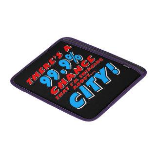 99.9% CITY (wht) MacBook Sleeve