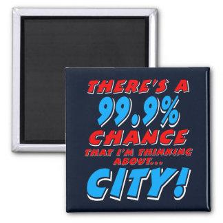 99.9% CITY (wht) Magnet