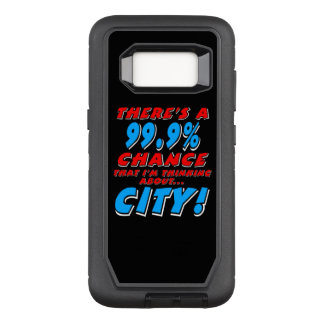 99.9% CITY (wht) OtterBox Defender Samsung Galaxy S8 Case