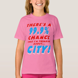 99.9% CITY (wht) T-Shirt