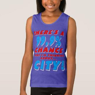 99.9% CITY (wht) Tank Top