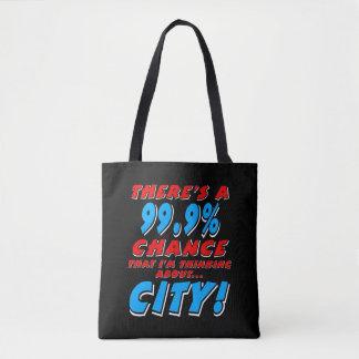 99.9% CITY (wht) Tote Bag