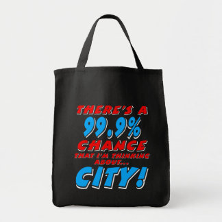 99.9% CITY (wht) Tote Bag