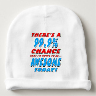 99.9% GOING TO BE AWESOME (blk) Baby Beanie