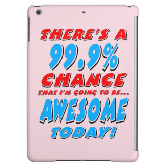 99.9% GOING TO BE AWESOME (blk) iPad Air Cover