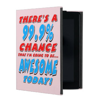 99.9% GOING TO BE AWESOME (blk) iPad Cover