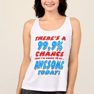 99.9% GOING TO BE AWESOME (blk) Tank Top