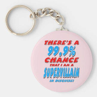 99.9% I am a SUPER VILLAIN (blk) Keychain