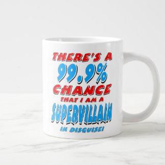 99.9% I am a SUPER VILLAIN (blk) Large Coffee Mug