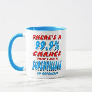 99.9% I am a SUPER VILLAIN (blk) Mug
