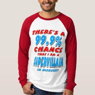 99.9% I am a SUPER VILLAIN (blk) T-Shirt