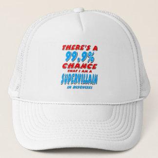 99.9% I am a SUPER VILLAIN (blk) Trucker Hat
