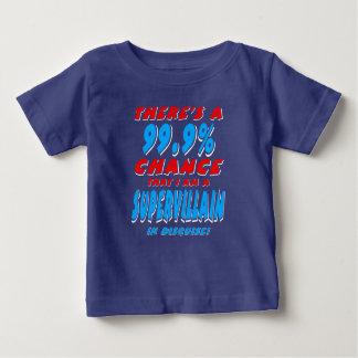 99.9% I am a SUPER VILLAIN (wht) Baby T-Shirt