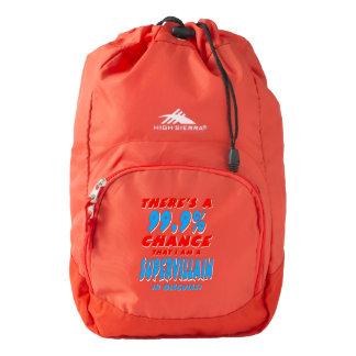 99.9% I am a SUPER VILLAIN (wht) Backpack