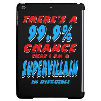 99.9% I am a SUPER VILLAIN (wht) Cover For iPad Air
