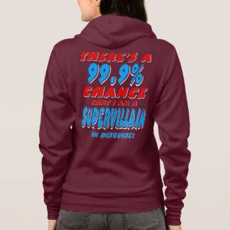99.9% I am a SUPER VILLAIN (wht) Hoodie