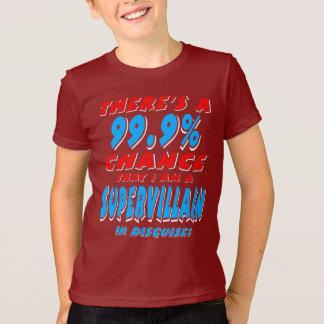 99.9% I am a SUPER VILLAIN (wht) T-Shirt