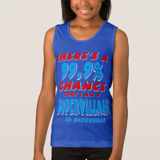 99.9% I am a SUPER VILLAIN (wht) Tank Top