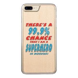 99.9% I am a SUPERHERO (blk) Carved iPhone 8 Plus/7 Plus Case