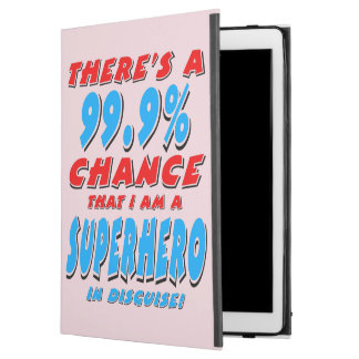"""99.9% I am a SUPERHERO (blk) iPad Pro 12.9"""" Case"""