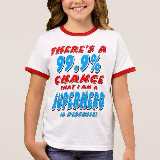 99.9% I am a SUPERHERO (blk) Ringer T-Shirt