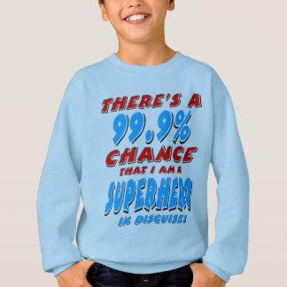 99.9% I am a SUPERHERO (blk) Sweatshirt