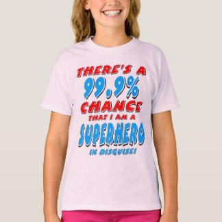 99.9% I am a SUPERHERO (blk) T-Shirt