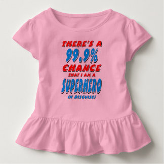 99.9% I am a SUPERHERO (blk) Toddler T-shirt