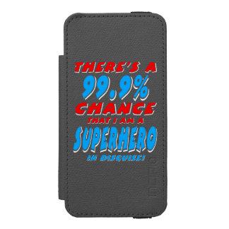 99.9% I am a SUPERHERO (wht) Incipio Watson™ iPhone 5 Wallet Case