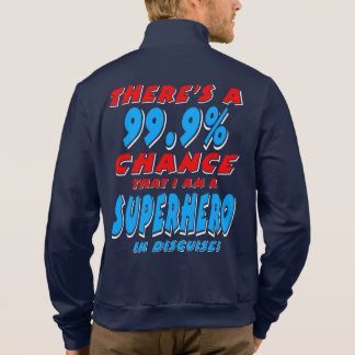 99.9% I am a SUPERHERO (wht) Jacket