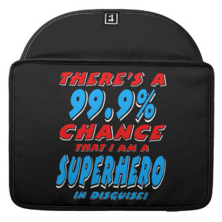 99.9% I am a SUPERHERO (wht) Sleeve For MacBook Pro