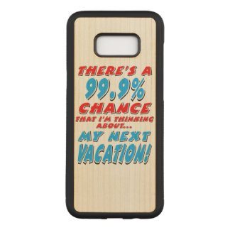 99.9% NEXT VACATION (blk) Carved Samsung Galaxy S8+ Case